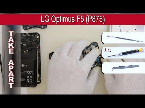 How to disassemble 📱 LG Optimus F5 (P875) Take apart Tutorial