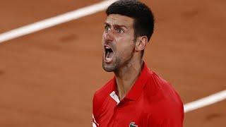 Roland Garros, urla e calci: crisi di nervi per Djokovic contro Berrettini
