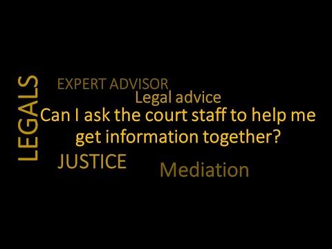 Can I Get Court Staff To Help? I Litigation  Disputes Gold Coast 0756463749