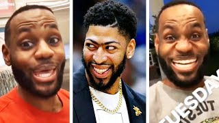 LeBron James & Anthony Davis Funniest Moments Together Since Joining Lakers