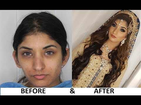 Pakistani Asian Bridal Walima / Registry Make Up By Hirah Mughal