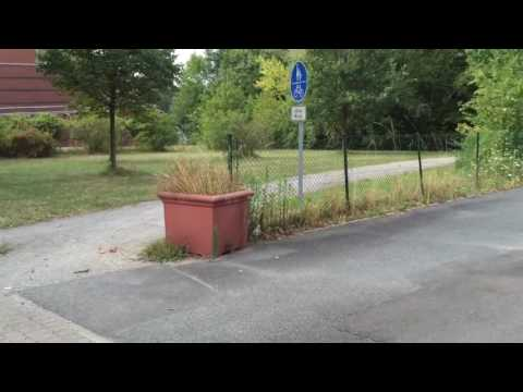 Walk from hotel to work in Hannover