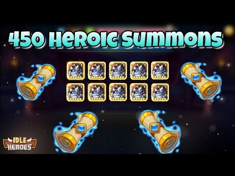Idle Heroes (P) - 450 Heroic Summons - King Barton Event!