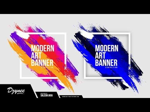 Illustrator Tutorials   Modern Art Banner