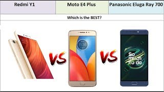 Redmi Y1 vs Moto E4 Plus vs Panasonic Eluga Ray 700 Specs Comparison