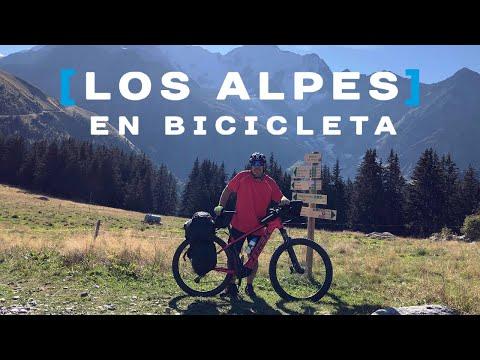 La travesía de los Alpes en bicicleta