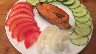 Красная рыба жареная, вкус превосходный. Форель жареная, рыба жареная, жареная рыба. Видео рецепт.(форель жареная, лосось жареный, жареная форель рецепт, форель жареная рецепт, форель жареная на сковороде,..., 2015-12-18T10:04:48.000Z)