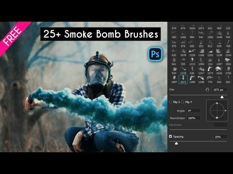 2019 Top 25+ Smoke Bomb Brushes For Photoshop | Free Download | How To Install Brushes In Photoshop