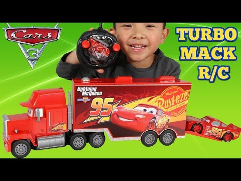 Disney Cars 3 RC Turbo Mack Truck Unboxing Test Drive Fun With Ckn Toys