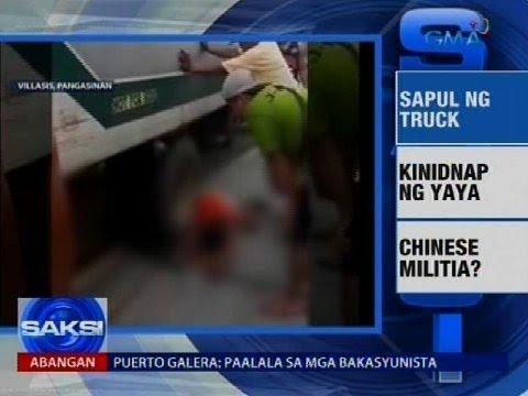 Saksi: Pagsalpok ng truck sa isang lalaki, na-huli cam