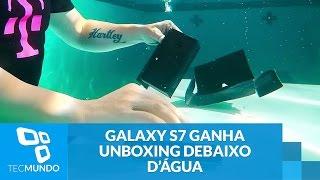 Galaxy S7 ganha unboxing debaixo d'água