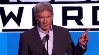 Harrison Ford Speech At The AMA - Talks About John Williams - the Music of Star Wars and Pentatonix