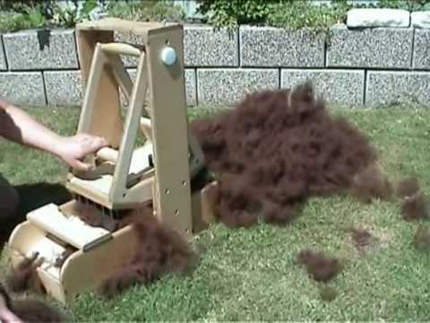 Fibre wool picker fleece blender pre drum carder