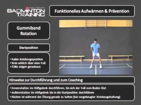 Krafttraining Badminton Miniband Rotation (Strength Training Miniband Rotation )