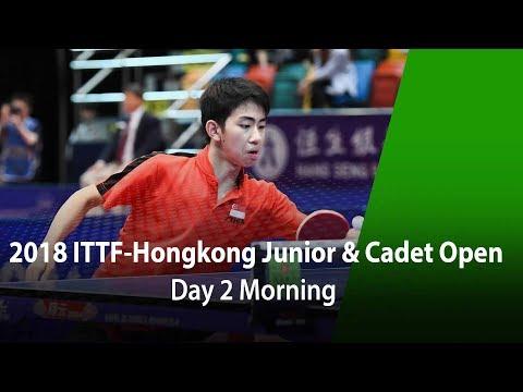 2018 ITTF Hang Seng Hong Kong Junior & Cadet Open - Day 2 (Morning)