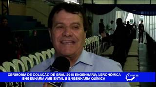 ENTREVISTA COM O REITOR ANTES DO INÍCIO DA CERIMÔNIA DE COLAÇÃO DE GRAU