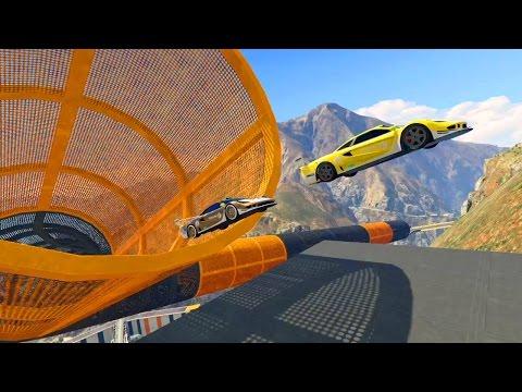 GTA 5 Online - NEW STUNT RACES! (GTA V Online)