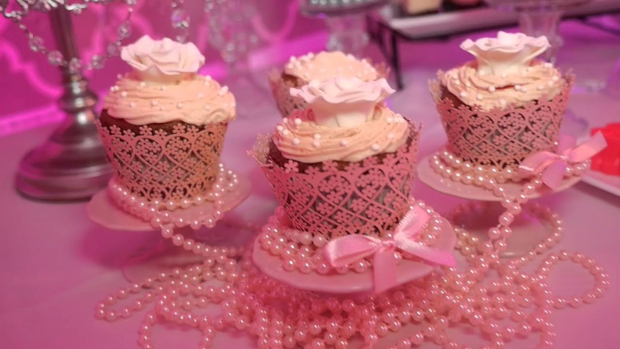Baby Shower pink & Silver Decoration at Marvel Banquet Hall Miami