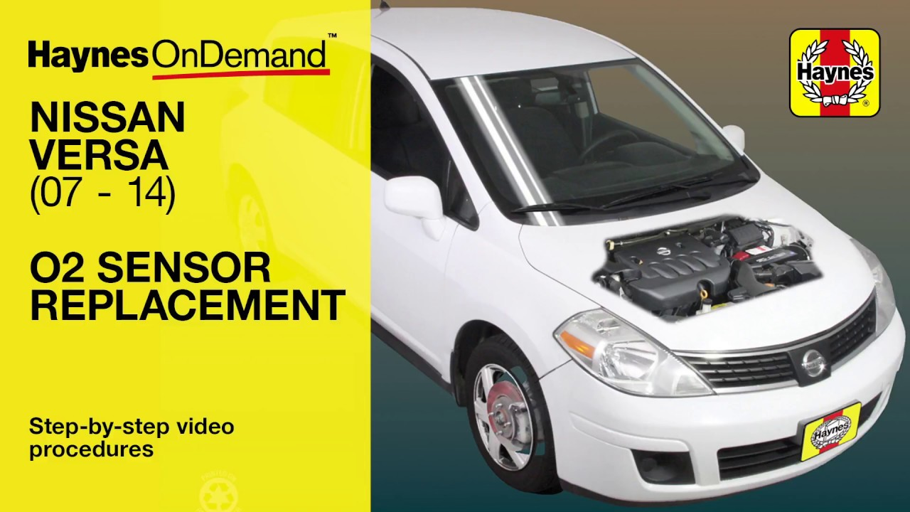 replace the O2 Sensor on a Nissan Versa (2007-2014) - YouTube