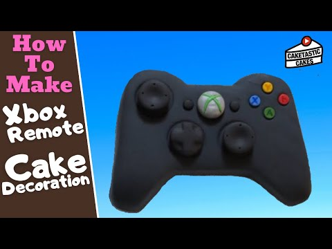 XBOX REMOTE CONTROLLER Cake Decoration Tutorial - Step By Step - How To Make Caketastic Cakes