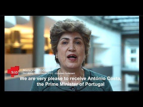 We welcome Portuguese Prime Minister Antonio Costa to the European Parliament!
