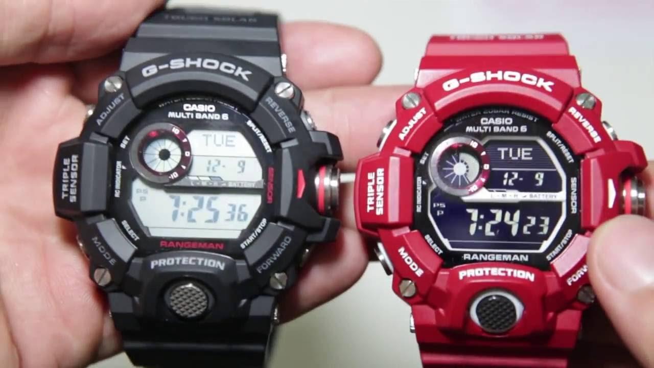 Casio Gshock Rangeman GW-9400-1 VS GW-900RD-4 Compare - YouTube 134fcca41f