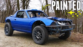 homepage tile video photo for Painting the EJ205 AWD MIATA World Rally BLUE!