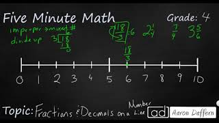 4th Grade Math Fractions and Decimals on a Number Line