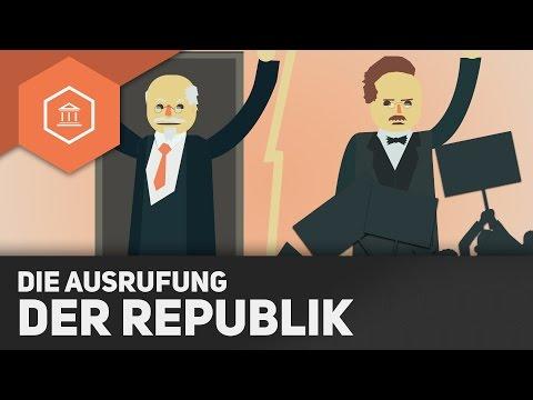 Ausrufung der Weimarer Republik & sozialistische Gruppen - Beginn der Weimarer Republik