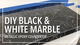DIY Black & White Marble Countertop Resurfacing With Epoxy Resin