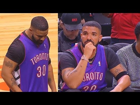 Drake Wears Dell Curry's Raptors Jersey To Be Petty To Stephen Curry In Game 1! Warriors Vs Raptors