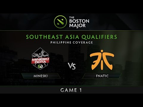 Mineski vs Fnatic - Game 1 - The Boston Major SEA Qualifiers - Philippine Coverage