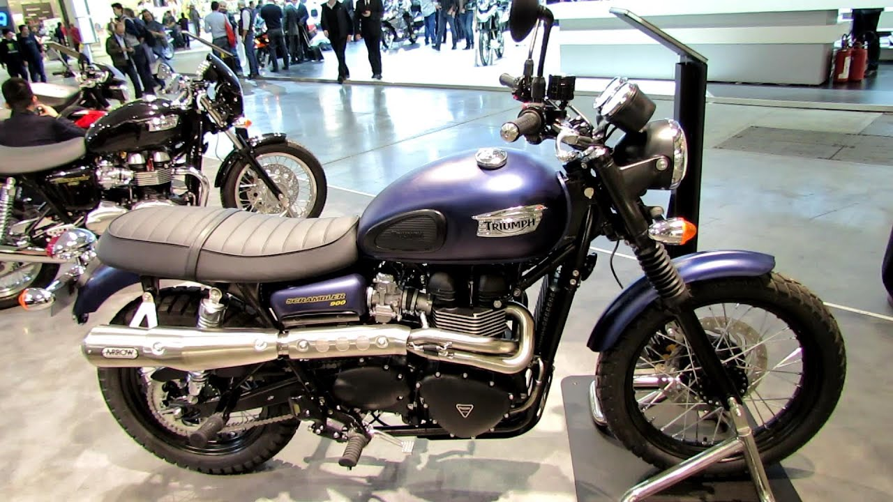 2014 triumph scrambler 900 blue walkaround 2013 eicma milano motorcycle exhibition youtube. Black Bedroom Furniture Sets. Home Design Ideas