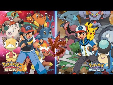 Pokemon Sun and Moon: Ash Vs Ash (Ground Type Vs Fighting Type)