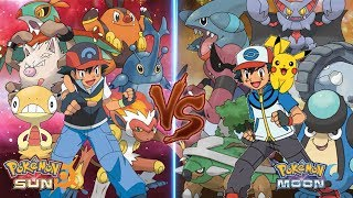 Pokemon Sun and Moon: Ash Vs Ash (Ground Type Vs Fighting Type)