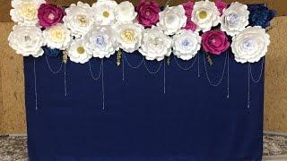 Большие Цветы из бумаги. Оформление свадьбы своими руками / Big Paper Flowers / DIY Wedding Decor