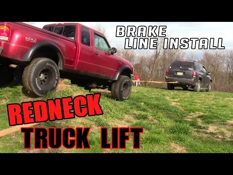 LIFTED RANGER BLOWS BRAKE LINE (HOW NOT TO FIX IT)