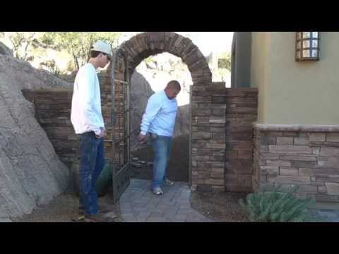 Affordable Fence and Gates installing a custom gate