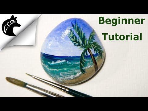Rock Painting Tutorial For Beginners Beach thumbnail