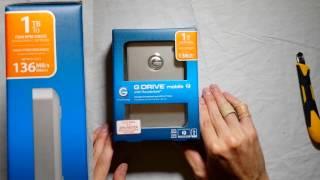 G-Drive Thunderbolt USB 3.0 1TB Mobile External Hard Drive | Unboxing & Review E10
