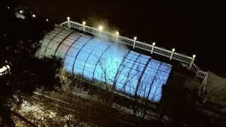 노천온천급의 온수수영장