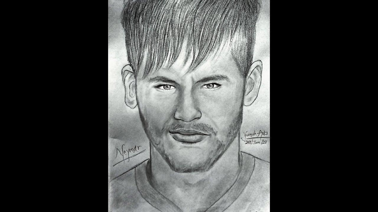 Neymar jr pencil drawing