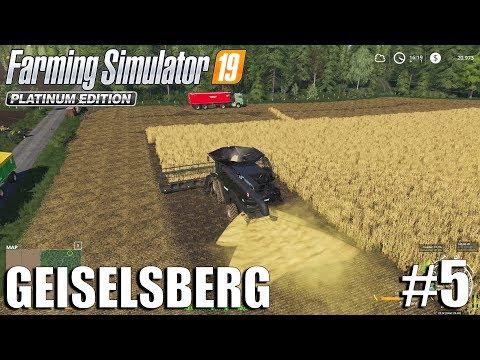Harvesting Wheat and Soybeans| Geiselsberg Timelapse #5 | FS19 Timelapse | Farming Simulator 2019