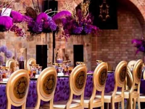 Purple Wedding Decor Youtube