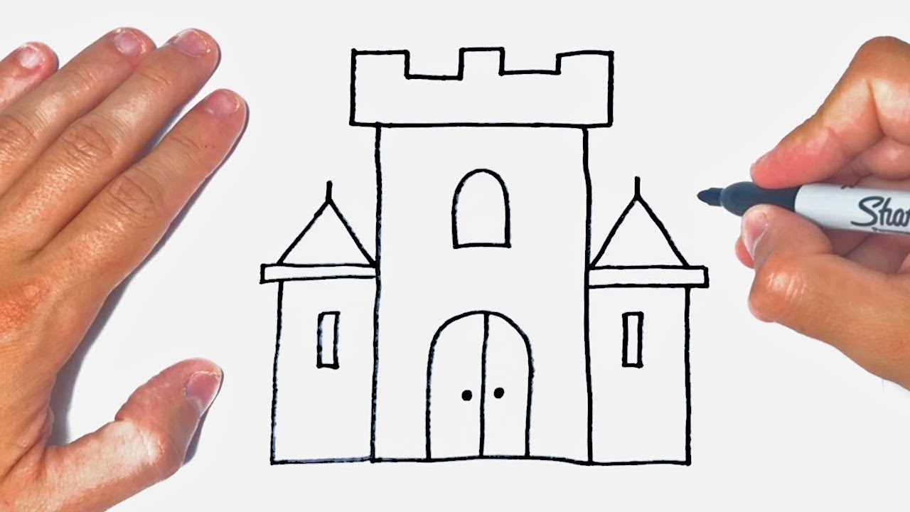 How to draw a Castle Step by Step | Castle Drawing Lesson
