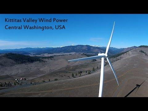 Kittitas Valley Windmills Near Ellensburg via Drone