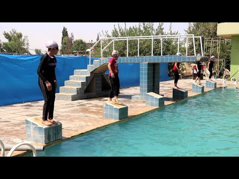 Mosul girls learn to swim a year after city's liberation from IS group