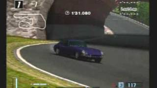 Jaguar E-Type Coupe drifting @ Deep Forest Raceway in GT4