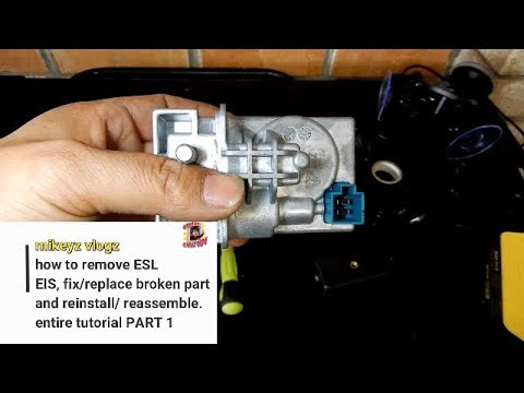HOW TO remove and fix ESL/EIS/ ELV MODULE  w212 w204 mercedes motor replace  Part 1