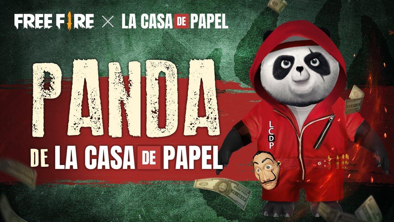 ¡PANDA DE LA CASA DE PAPEL GRATIS! 🐼💥 | Garena Free Fire